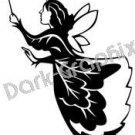 Fairy 2 Mythical Fantasy Logo Symbol (Decal - Sticker)