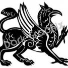 Griffin Mythical Fantasy Logo Symbol (Decal - Sticker)