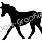 Unicorn 2 Fantasy Logo Symbol (Decal - Sticker)