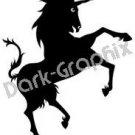 Unicorn 3 Fantasy Logo Symbol (Decal - Sticker)