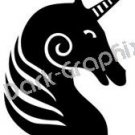 Unicorn 4 Fantasy Logo Symbol (Decal - Sticker)