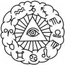 Zodiac Circular 2 Logo Symbol (Decal - Sticker)
