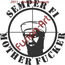 Bin Laden Semper Fi Mother Fucker (Decal - Sticker)