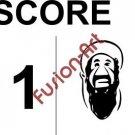 Bin Laden Score Style 2 (Decal - Sticker)