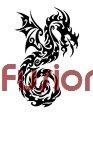 Tribal Dragon Style 32 (Decal - Sticker)