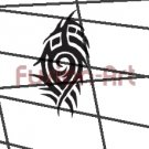 Tribal Tattoo Design Element Style 25 (Decal - Sticker)
