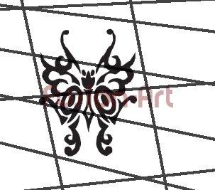 Tribal Tattoo Design Element Style 34 (Decal - Sticker)