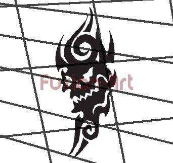 Tribal Tattoo Design Element Style 39 (Decal - Sticker)