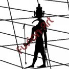 Egyptian God Thoth Silhouette (Decal - Sticker)