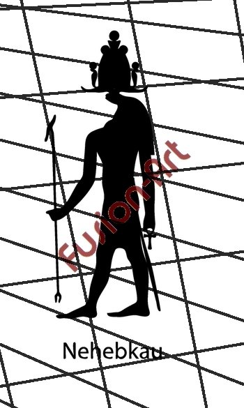 Egyptian God Nehebakau Silhouette (Decal - Sticker)