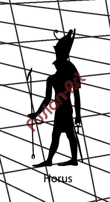 Egyptian God Horus Silhouette (Decal - Sticker)