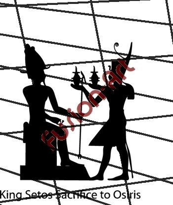 Egyptian God King Setos Silhouette (Decal - Sticker)