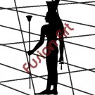 Egyptian God Neith Silhouette (Decal - Sticker)