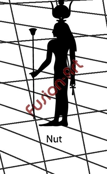 Egyptian God Nut Silhouette (Decal - Sticker)
