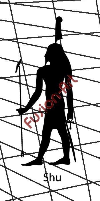 Egyptian God Shu Silhouette (Decal - Sticker)