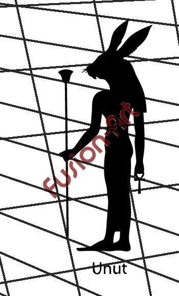 Egyptian God Unut Silhouette (Decal - Sticker)