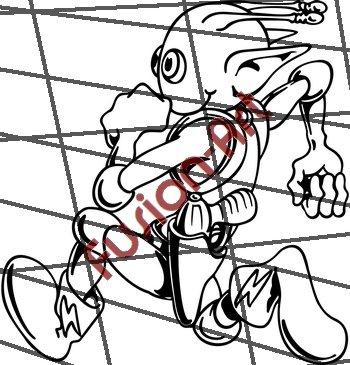Cartoon Alien UFO ET Silhouette 20 (Decal - Sticker)