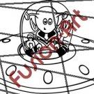 Cartoon Alien UFO ET Silhouette 23 (Decal - Sticker)