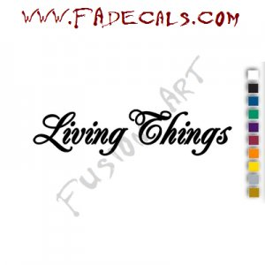 Living Things Band Music Artist Logo Decal Sticker