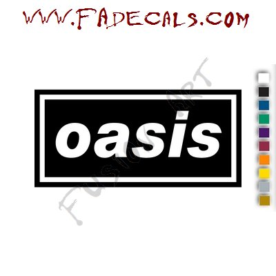 Oasis Band Music Artist Logo Decal Sticker Oasis Band Logo