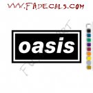 Oasis Band Music Artist Logo Decal Sticker