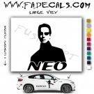 Neo Silhouette The Matrix Movie Logo Decal Sticker