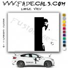 Scarface Silhouette Al Pacino Movie Logo (Decal Sticker)