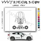 Darth Vader  Movie Logo (Decal Sticker)