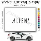 Alien 3 Movie Logo (Decal Sticker)