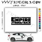 Empire Strikes Back Star Wars Logo Sith Rebel (Decal Sticker)
