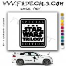 Star Wars Trilogy Logo Sith Rebel (Decal Sticker)
