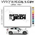 Return of the Jedi Logo Star Wars Sith Rebel (Decal Sticker)