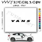 Vans Skate Shoes Skateboarding Brand Logo Decal Sticker