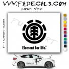 Element Skateboarding Brand Logo Decal Sticker