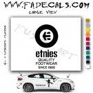 ETNIES Skateboarding Brand Logo Decal Sticker