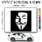V for Vendetta Movie Logo Decal Sticker