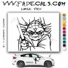 Yoda Cartoon 2 Movie Logo Decal Sticker