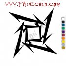Metallica Ninja Star 2 Band Music Artist Logo Decal Sticker
