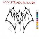 Akbal Funeral Band Music Artist Logo Decal Sticker