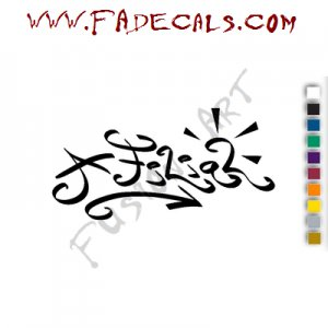 A Filial Band Music Artist Logo Decal Sticker