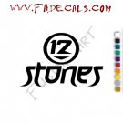 12 Stones Band Music Artist Logo Decal Sticker