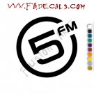 5 FM Band Music Artist Logo Decal Sticker