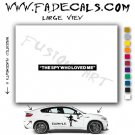 Spy Who Loved Me James Bond Movie Logo Decal Sticker