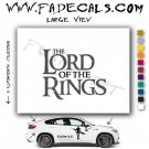 The Lord Of The Rings Movie Logo Decal Sticker
