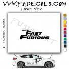 The Fast And The Furious Movie Logo Decal Sticker