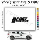 The Fast And The Furious 2 Movie Logo Decal Sticker