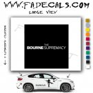 The Bourne Supremacy Movie Logo Decal Sticker