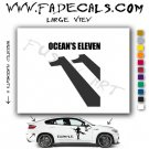 Oceans Eleven Movie Logo Decal Sticker