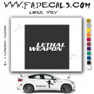 Lethal Weapon Movie Logo Decal Sticker