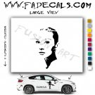 Audrey Hepburn Movie Logo Decal Sticker